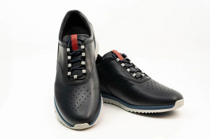 Pantofi sport barbati Zidan albastru cu alb (piele naturala)