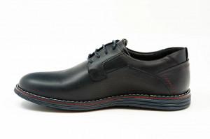 Pantofi casual barbati Duce albastru (piele naturala)