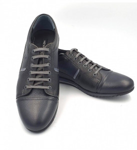 Pantofi sport barbati din piele naturala Andrian Negru