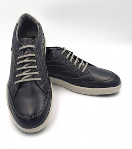 Pantofi sport barbati din piele naturala Dennis Gri