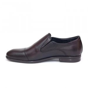 Pantofi eleganti barbati Luxemburg maro inchis (piele naturala)