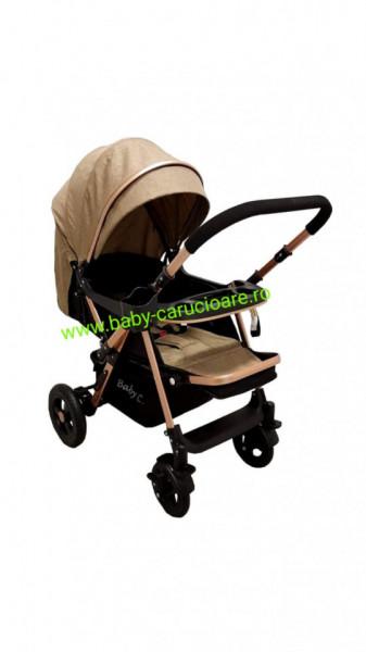 Poze Cărucior nou născut 2 in 1 +plasă pentru insecte Baby Care 511 Dark Capuccino