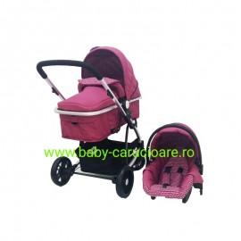 Poze Cărucior nou născut 3 in 1 Baby Care YK 18-19 Fucsia