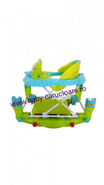 Premergator balansoar 2 in 1 cu roți din silicon Baby Care Ratusca Aqua