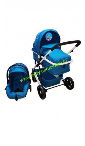 Poze Carucior nou născut 3 in 1 Baby Care YK 18-19 Turquoise