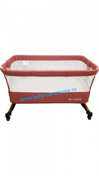 Pătuț CO-SLEEPER cu balansoar Babies(Baby Care)Cranberry Pink