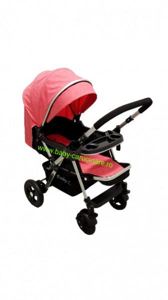 Poze Cărucior nou născut 2 in 1 +plasă pentru insecte Baby Care 511 Pink