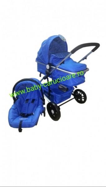 Poze Cărucior nou născut 3 in 1 Baby Care YK 18-19 Albastru închis
