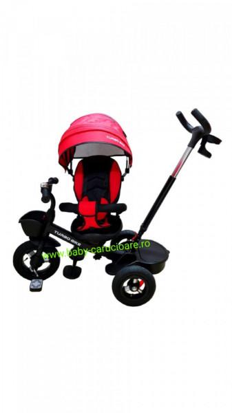Poze Tricicleta Turbo Bike cu poziție pentru somn Baby Care Roșu