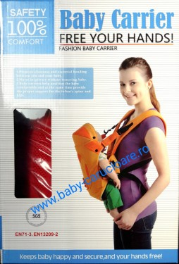 Marsupiu textil multifuncțional Baby Carrier 100% Safety Gri