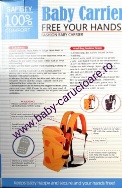 Poze Marsupiu textil multifuncțional Baby Carrier 100% Safety Gri