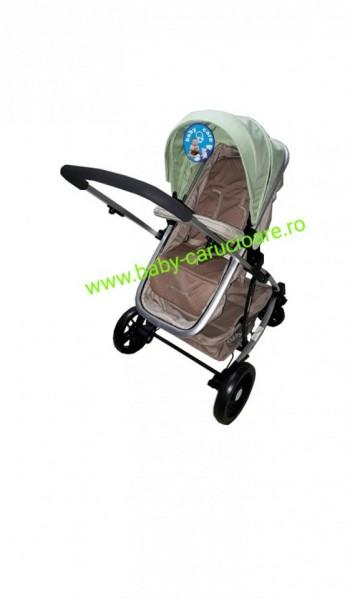 Cărucior nou născut 2 in 1 Baby Care YK 18 Verde fistic cu bej