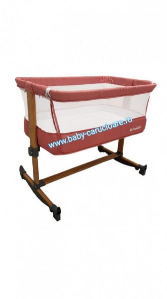 Poze Pătuț CO SLEEPING  cu balansoar Babies(Baby Care)Cranberry Pink