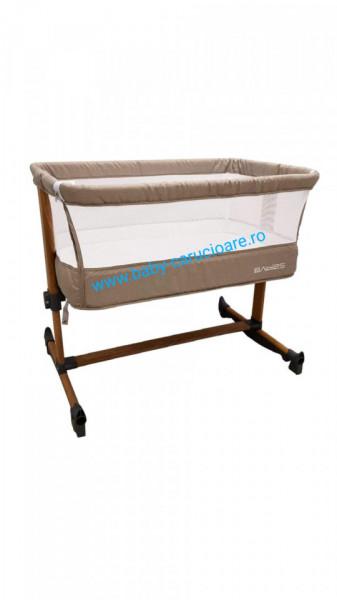 Poze Pătuț CO SLEEPING  cu balansoar Babies(Baby Care)Light Grey