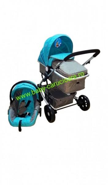 Carucior nou născut 3 in 1 Baby Care YK 18-19 Aqua