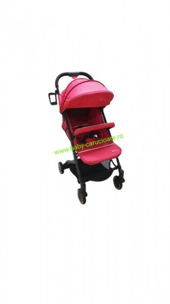 Cărucior sport ultracompact troller Baby Care A8 Rosu
