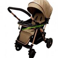 Cărucior nou născut 2 in 1 +plasă pentru insecte Baby Care 511 Dark Capuccino