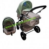 Cărucior nou născut 3 in 1 Baby Care YK 18-19 Verde fistic