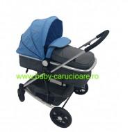 Cărucior nou născut Baby Care 2 în 1 YK 18 Albastru