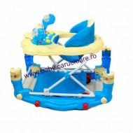 Premergător balansoar 2 in 1 Baby Care Ratusca Albastru
