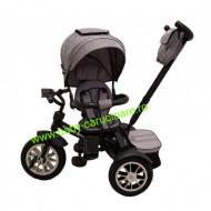 Tricicleta Turbo Bike cu poziție pentru somn Baby Care Grey
