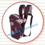 Marsupiu textil multifuncțional Baby Carrier 100% Safety Gri