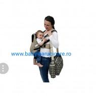 Marsupiu textil multifuncțional Baby Carrier maro