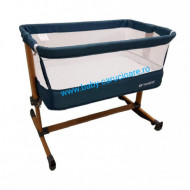 Pătuț CO SLEEPING  cu balansoar Babies(Baby Care)Turquoise