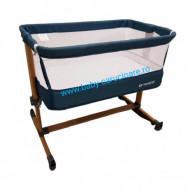 Pătuț CO SLEEPING  cu balansoar Babies(Baby Care)Turquoise