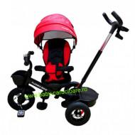 Tricicleta Turbo Bike cu poziție pentru somn Baby Care Roșu