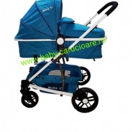 Carucior nou născut 3 in 1 Baby Care YK 18-19 Turquoise