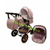 Cărucior nou născut 3 in 1 +geantă multifuncționala+ plasă pentru insecte Baby Care 530 Grey Gold