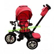 Tricicleta Turbo Bike cu poziție pentru somn Baby Care Pink