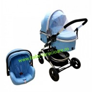 Cărucior nou născut 3 in 1 + plasă pentru insecte Baby Care 531 Blue