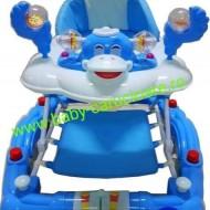 Premergator balansoar 2 in 1 cu roți din silicon Baby Care Ratusca Albastru