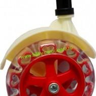 Premergător cu roți din silicon Baby Care ratusca- rosu