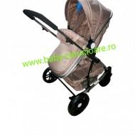 Cărucior nou născut 3 in 1 Baby Care YK 18-19 Capuccino