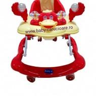 Premergator cu roți din silicon Baby Care Roșu