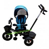 Tricicleta Turbo Bike cu poziție pentru somn Baby Care Turquoise