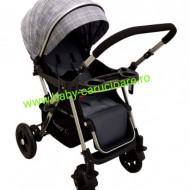 Cărucior nou născut 2 in 1 +plasă pentru insecte Baby Care 511 Grey Design