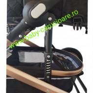 Carucior nou născut 3 in 1+ geantă multifuncționala +plasă pentru insecte Baby Care S 530 Black Design