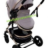 Cărucior nou născut 3 in 1 + plasă pentru insecte Baby Care 531 Grey