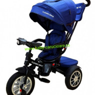 Tricicleta Turbo Bike cu poziție pentru somn Baby Care Albastru