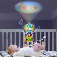 Lampă veghe cu telecomandă si proiecție Baloo