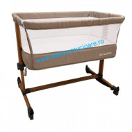 Pătuț CO-SLEEPER cu balansoar Babies(Baby Care)Light Grey