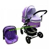 Cărucior nou născut 3 in 1 + plasă pentru insecte Baby Care 531 Purple