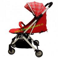 Cărucior sport troller  ultracompact&light Baby Care A 320 Roșu Design