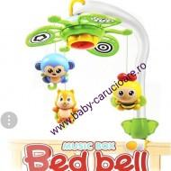 Carusel muzical pentru pătuț  MUSIC BOX BED BELL