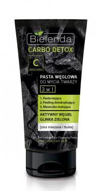 Bielenda Carbo Detox 3u1 aktivni ugalj pasta, piling, maska 150gr
