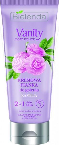 Bielenda Vanity Soft Touch, krem pena za depilaciju 2u1 Kamelia 175 g